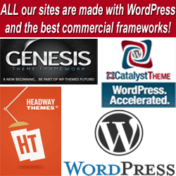 wordpress ready made websites