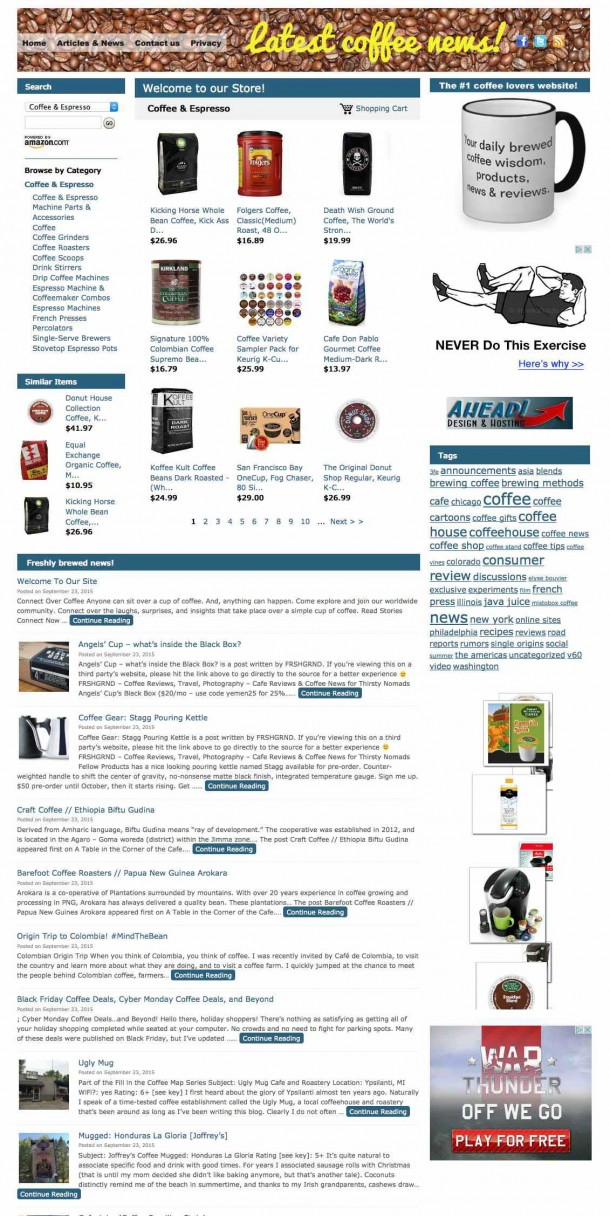 Latest_coffee_news!_Your_daily_brewed_coffee_wisdom,_products,_news_&_reviews.