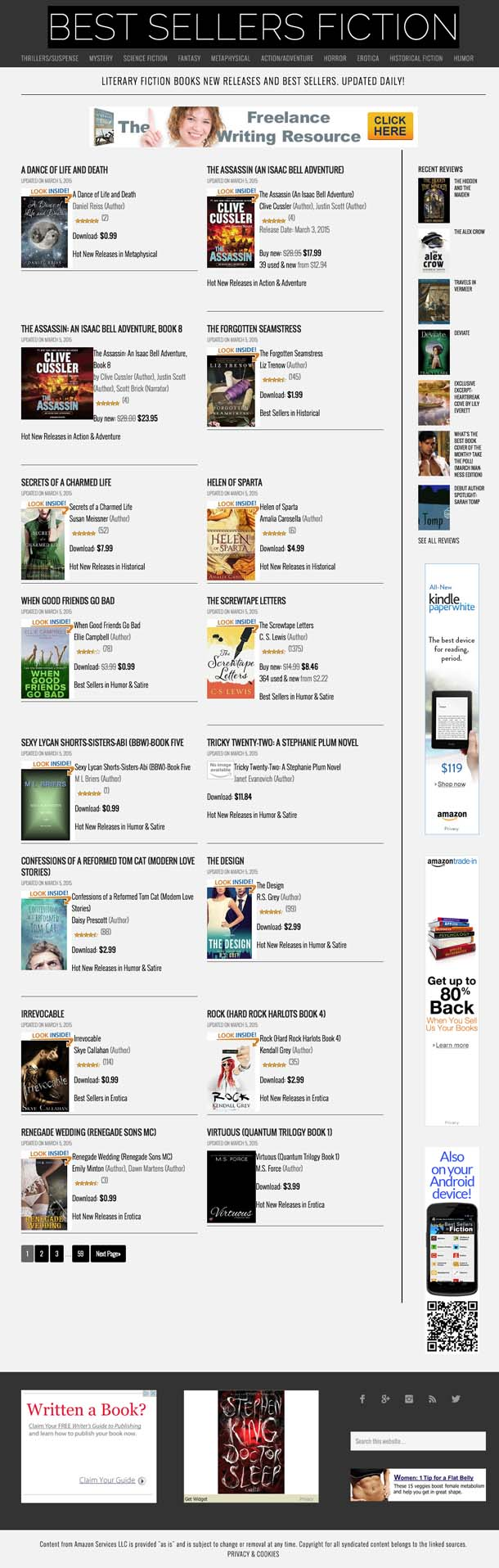 Literature & fiction books - new releases and best sellers - updated daily!