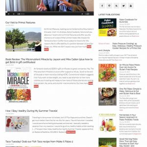 Paleo diet 2x automation w/news, blog, videos & books