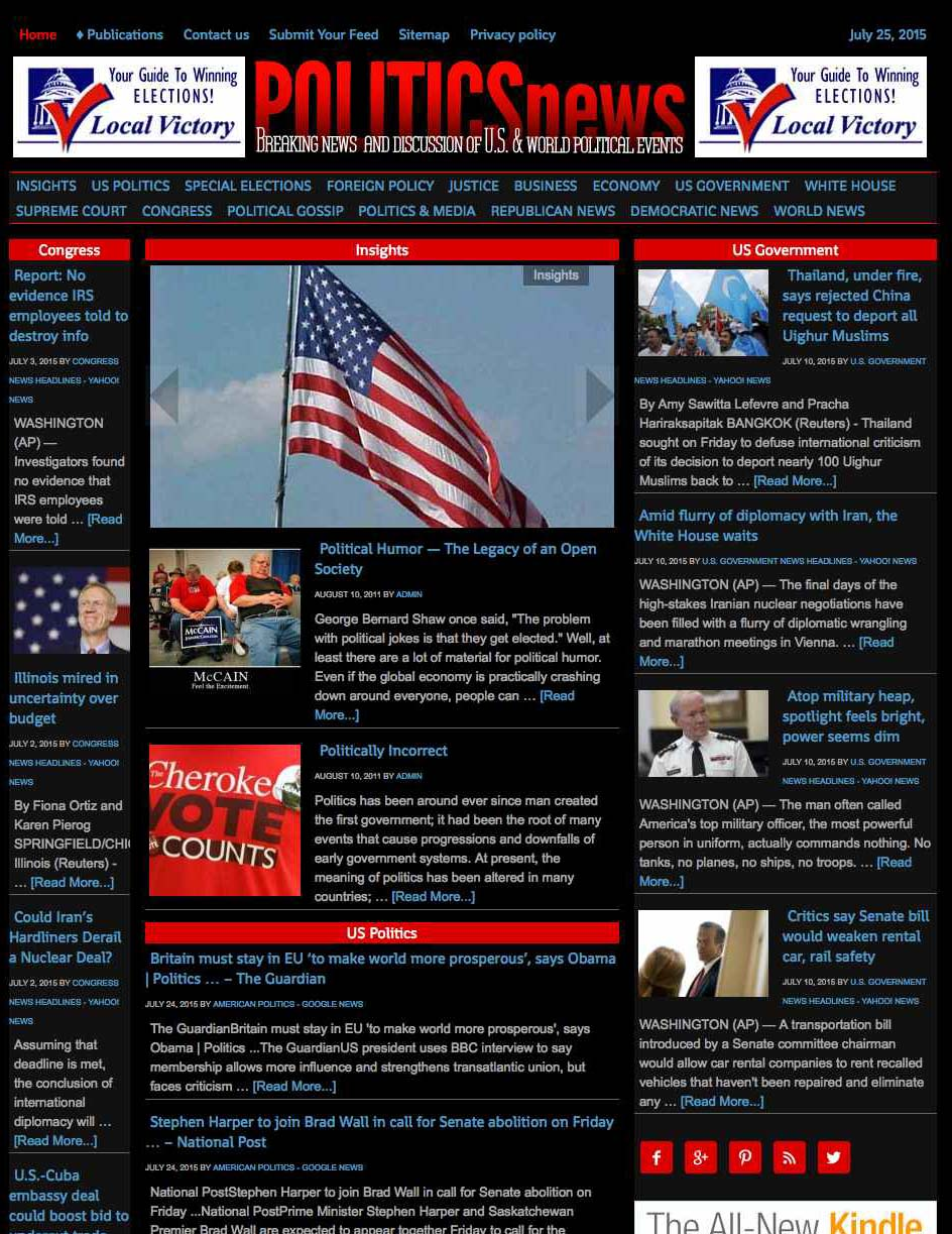 Politics News Aggregator