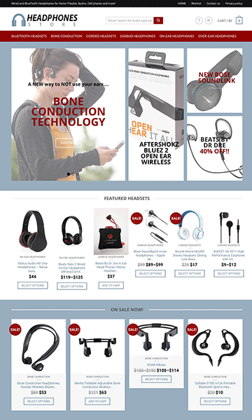 HEADPHONES, all the latest models from Amazon including the new Bone Conduction technology