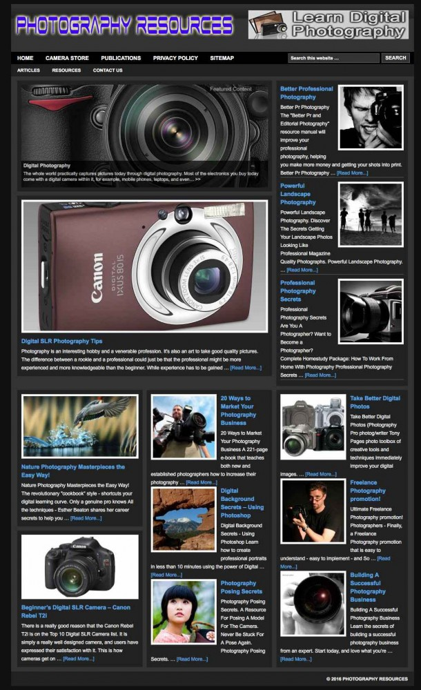 Photography_Resources_Guide_to_amateur_and_professional_photography