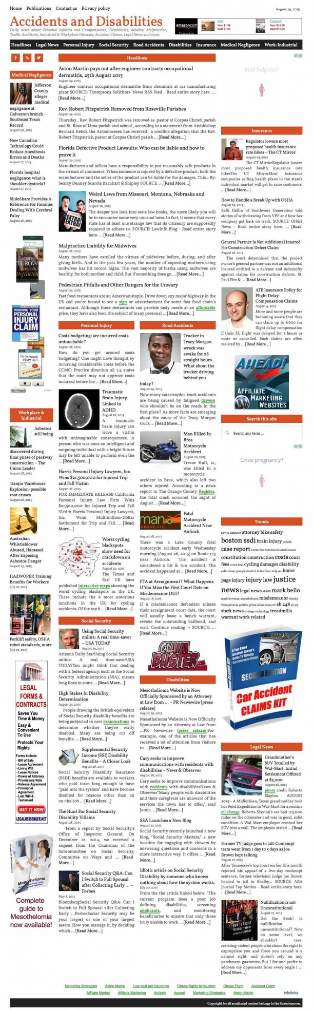 Accidents_and_Disabilities_Daily_news_about_Personal_Injuries_and_Compensation,_Disabilities,_Medical_Malpractice,_Traffic_Accidents,_Industrial_&_Workplace_Diseases,_Accident_Claims,_Legal_News_and_more.