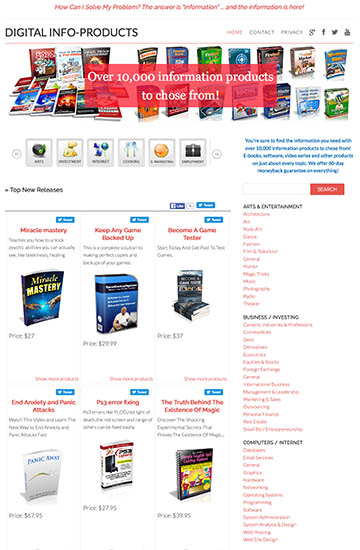 Digital information products, ENTIRE ClickBank marketplace promoted!!!!! HUGE earning potential!