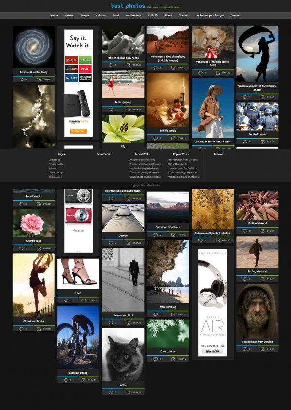 Photo sharing site, users powered like Flickr