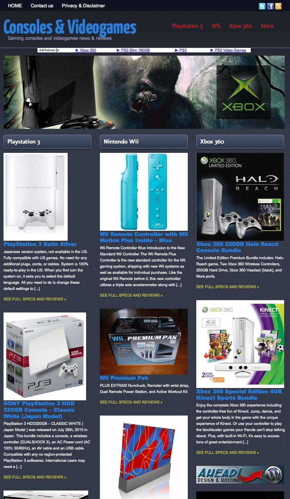 Consoles and Videogames