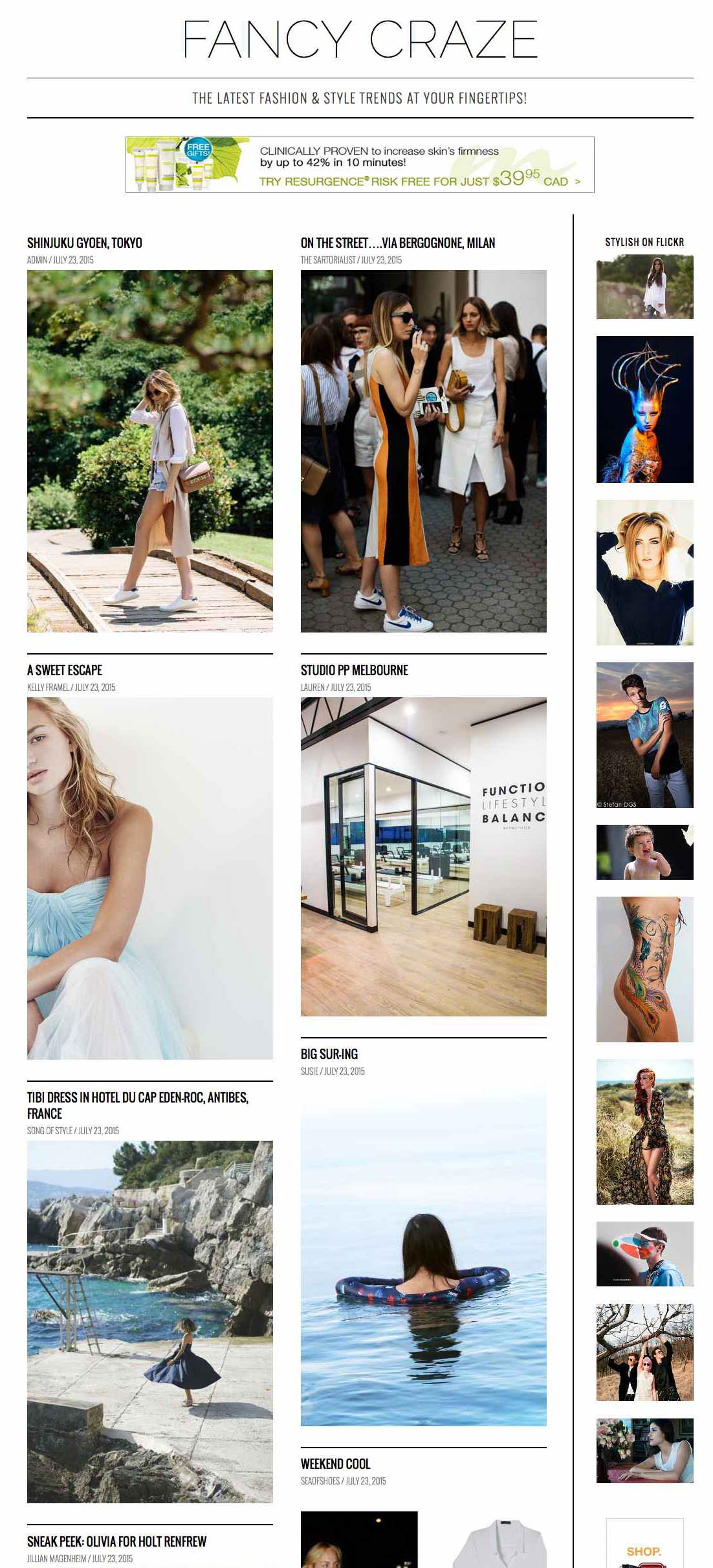 Fashion & Style trendsetting blogs aggregator