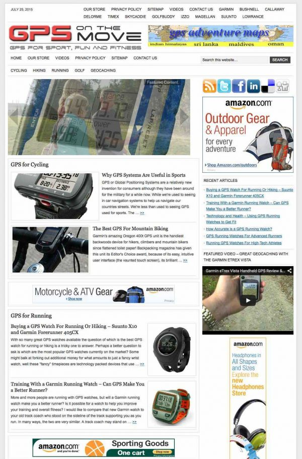 GPS for sport and fitness