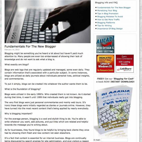 Guide To Blogging For Profit