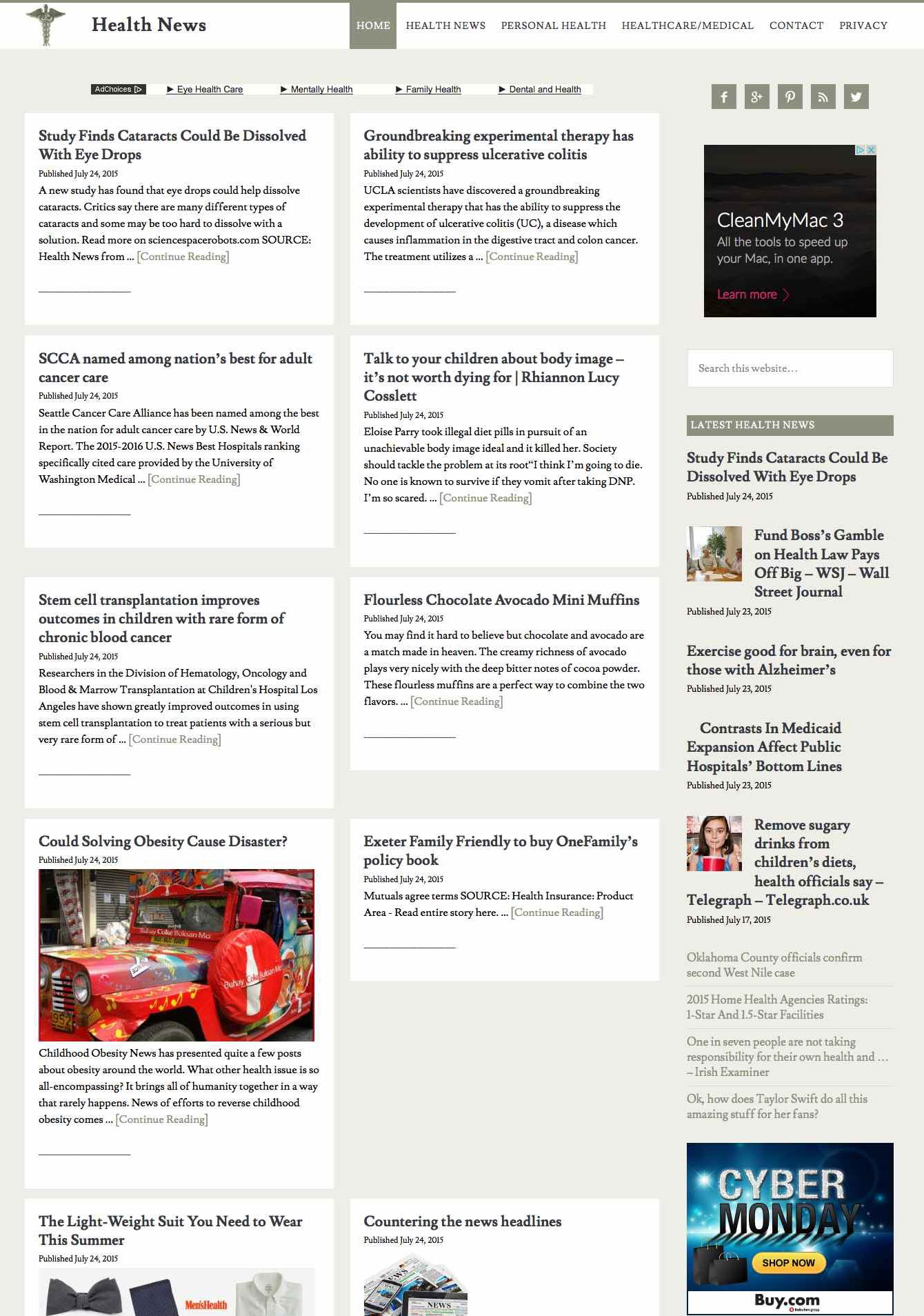 Health news aggregator ahead hosting for News aggregator template