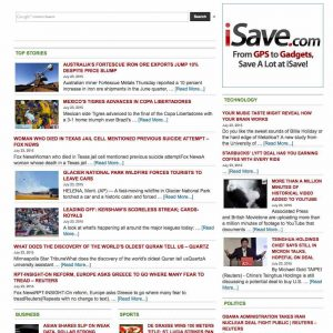 Search engine + News aggregator portal