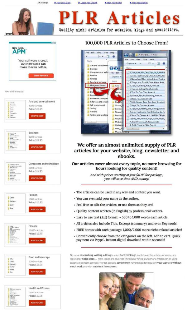 Sell PLR Articles