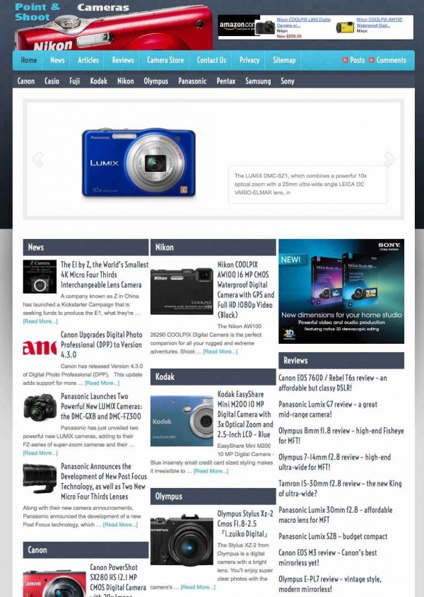 Point&Shoot Cameras + news