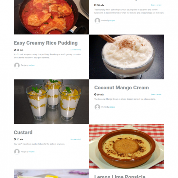 Recipes Site