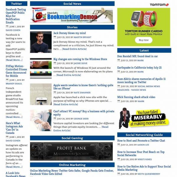 Social Networking News Aggregator