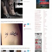 TATTOOS blog, slick aggregator with high potential