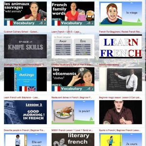 Learn French x beginners video lessons