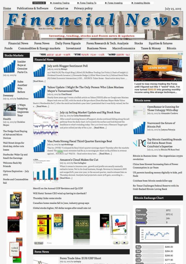 Investing and Forex News Aggregator