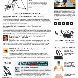 Back pain therapies and news