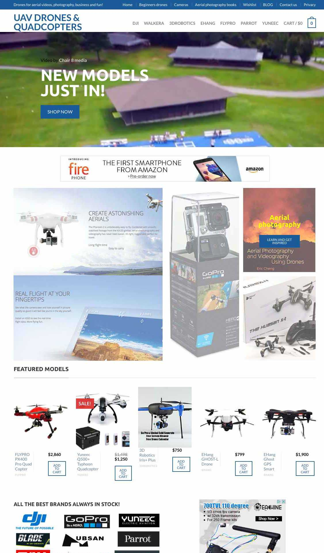 DRONES & aerial photography store - amazing high growth niche