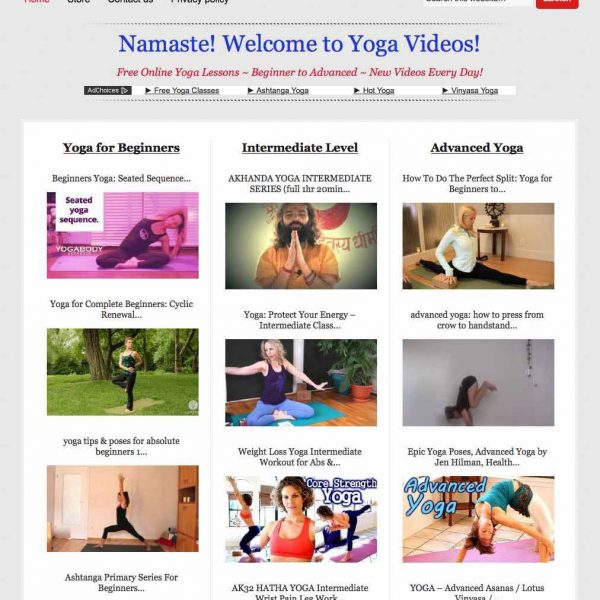 Yoga video lessons