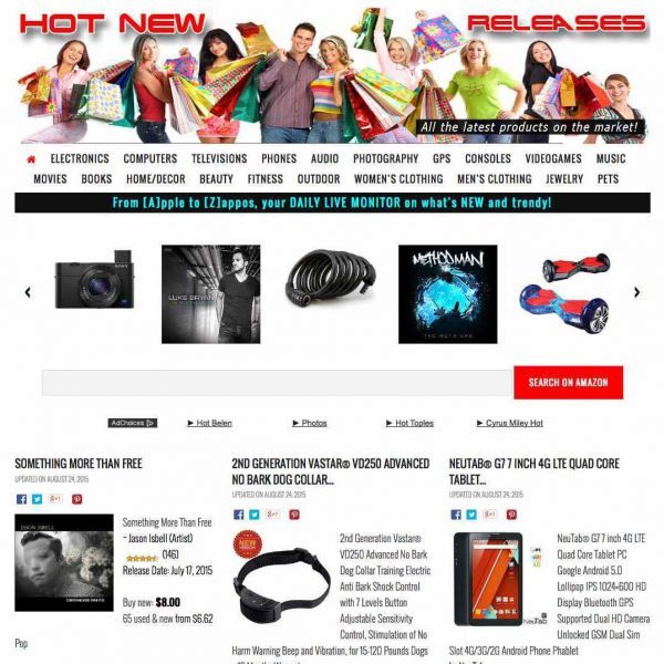 HOT NEW RELEASES! Sell everything new at Amazon, unlimited products in real time!